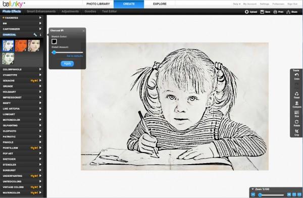 charcoal1 screen 600x392 Site que transforma foto em desenho photoshop