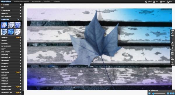 BeFunky Cyanotype Effect Screenshot