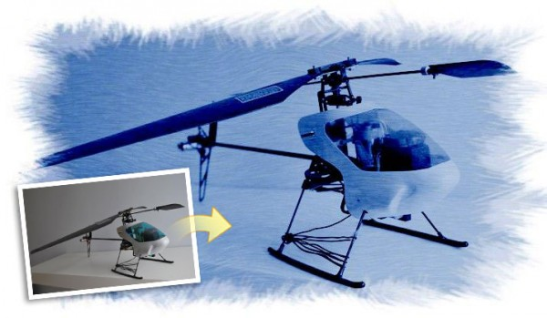 R/C Heli Cyanotype Effect