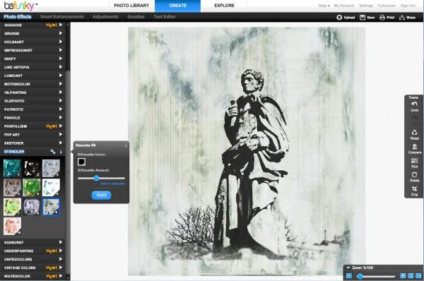 Stencil effect screenshot