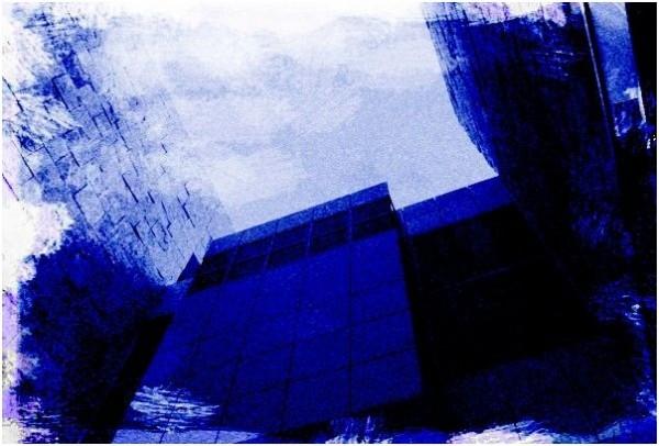 Getty Center /w Cyanotype Effect