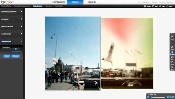 Lomo Effect Screenshot /w Compare Tool
